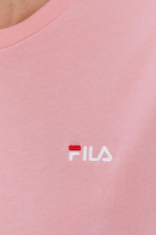 różowy Fila - T-shirt bawełniany
