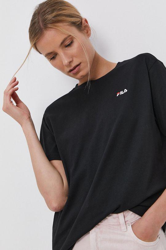czarny Fila - T-shirt bawełniany Damski
