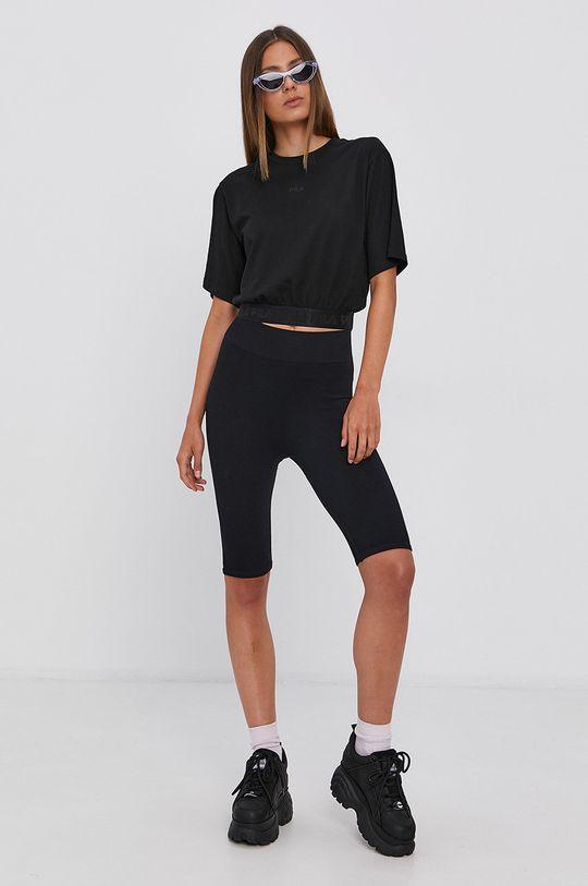 czarny Fila - T-shirt bawełniany