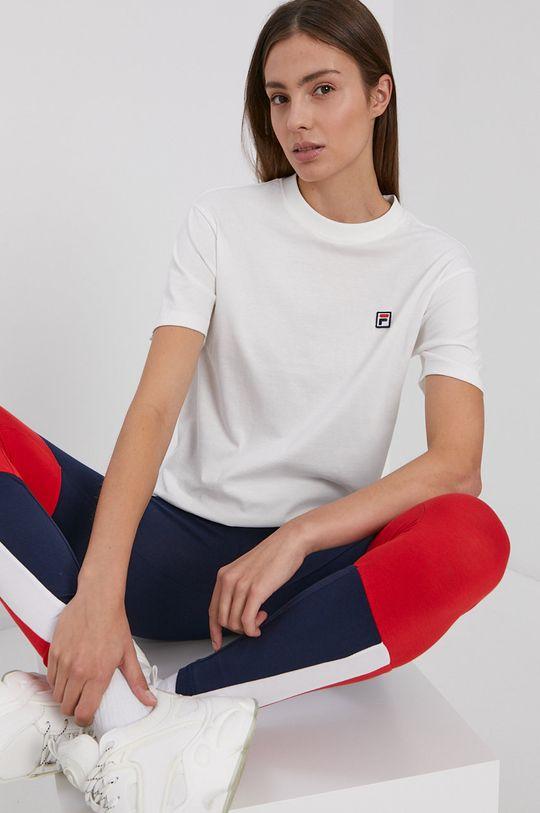 biały Fila - T-shirt bawełniany Damski