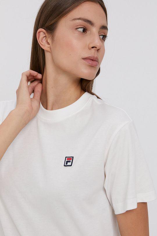 biały Fila - T-shirt bawełniany