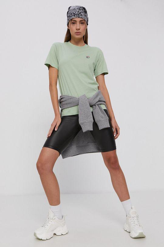 Fila - Tricou din bumbac verde pal