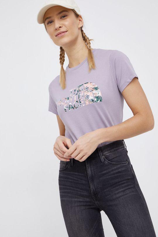 fioletowy The North Face - T-shirt bawełniany Damski