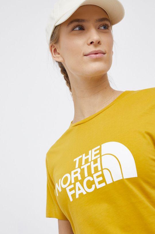 żółty The North Face - T-shirt bawełniany Damski