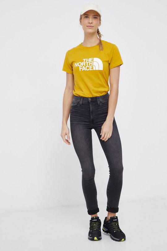 The North Face - T-shirt bawełniany żółty