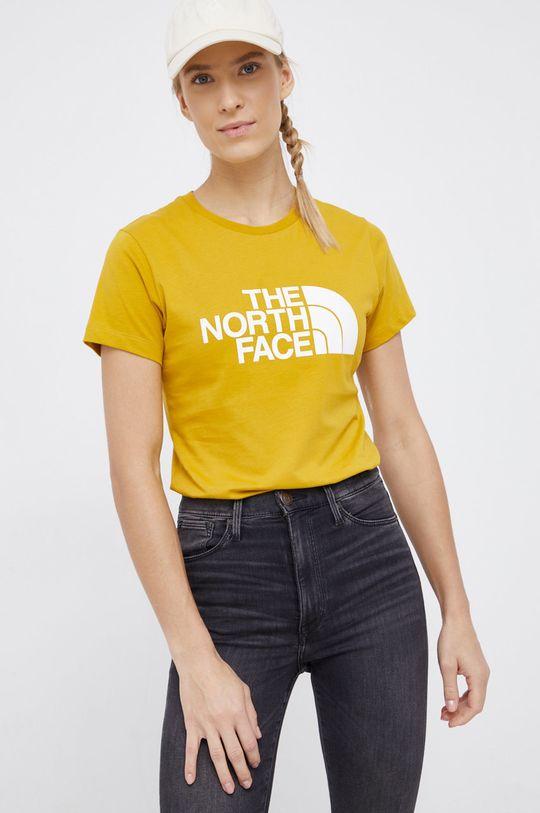 żółty The North Face - T-shirt bawełniany