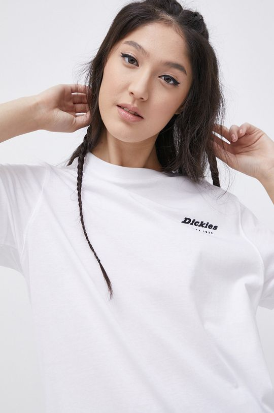 biały Dickies - T-shirt bawełniany Damski