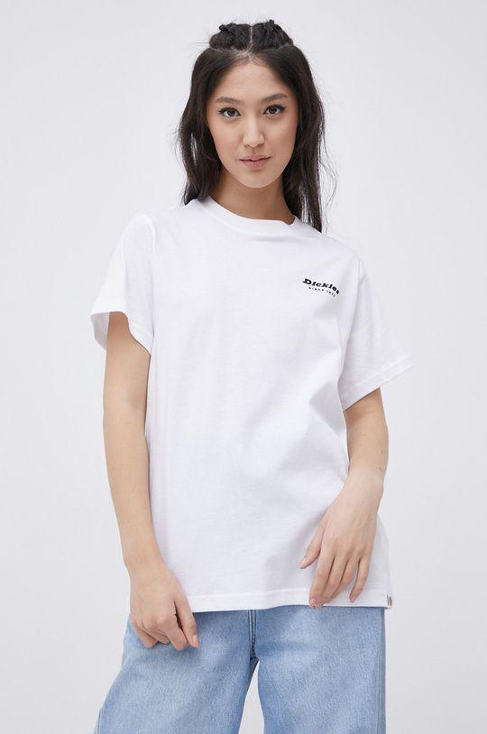 biały Dickies - T-shirt bawełniany