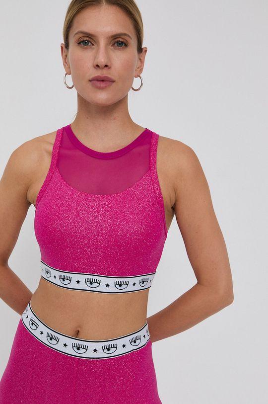 Chiara Ferragni - Top Glitter roz ascutit