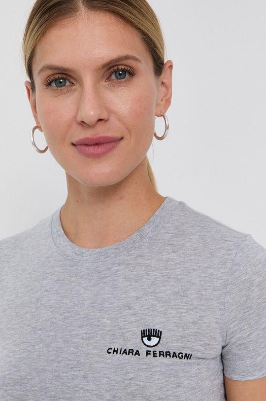 gri Chiara Ferragni - Tricou din bumbac Logo Basic