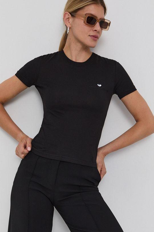 negru Chiara Ferragni - Tricou din bumbac Logo Basic De femei