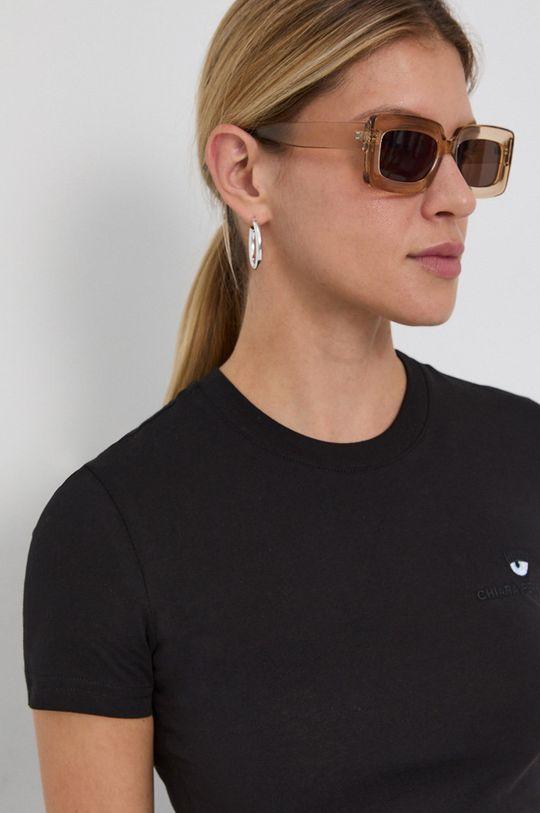 negru Chiara Ferragni - Tricou din bumbac Logo Basic