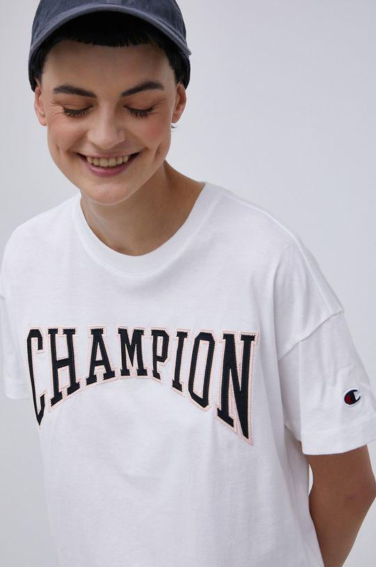 biały Champion - T-shirt bawełniany