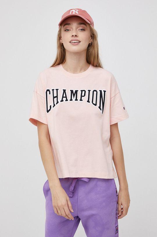 różowy Champion - T-shirt bawełniany Damski