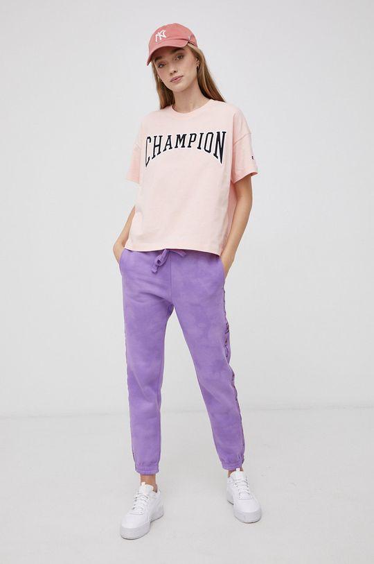 Champion - T-shirt bawełniany różowy