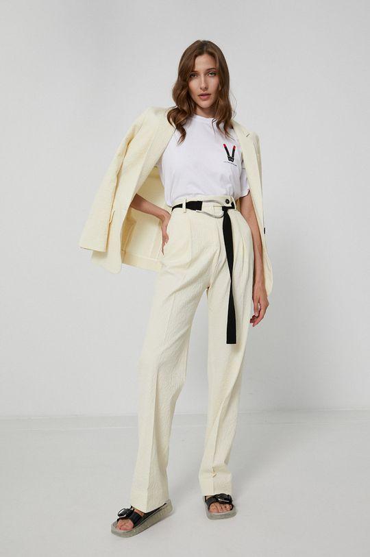 Victoria Victoria Beckham - T-shirt bawełniany biały
