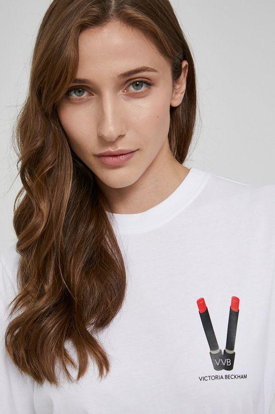 biały Victoria Victoria Beckham - T-shirt bawełniany
