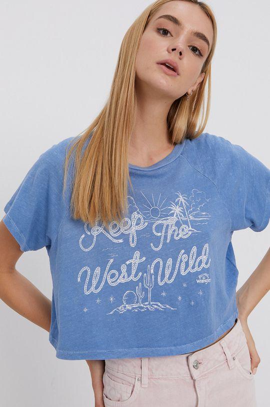 svetlomodrá Billabong - Bavlnené tričko x Wrangler Dámsky