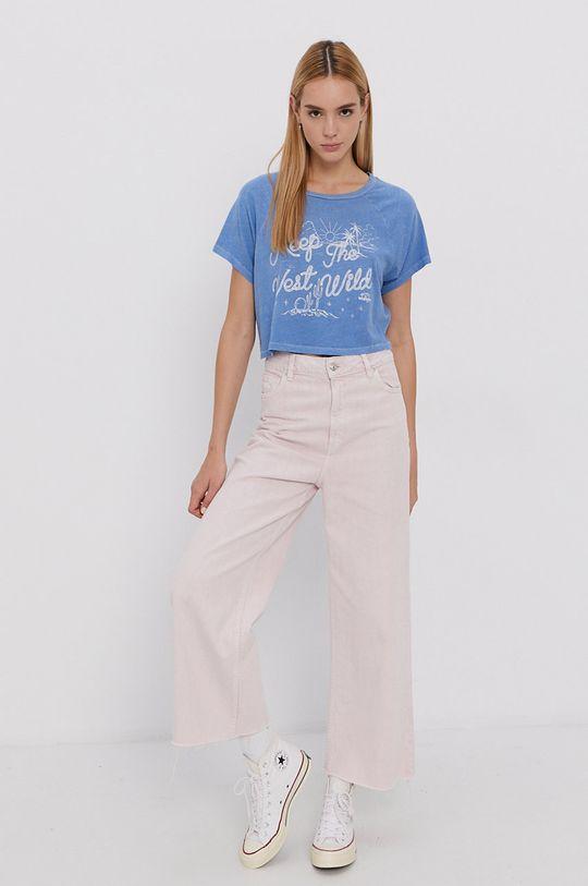 Billabong - Bavlnené tričko x Wrangler svetlomodrá