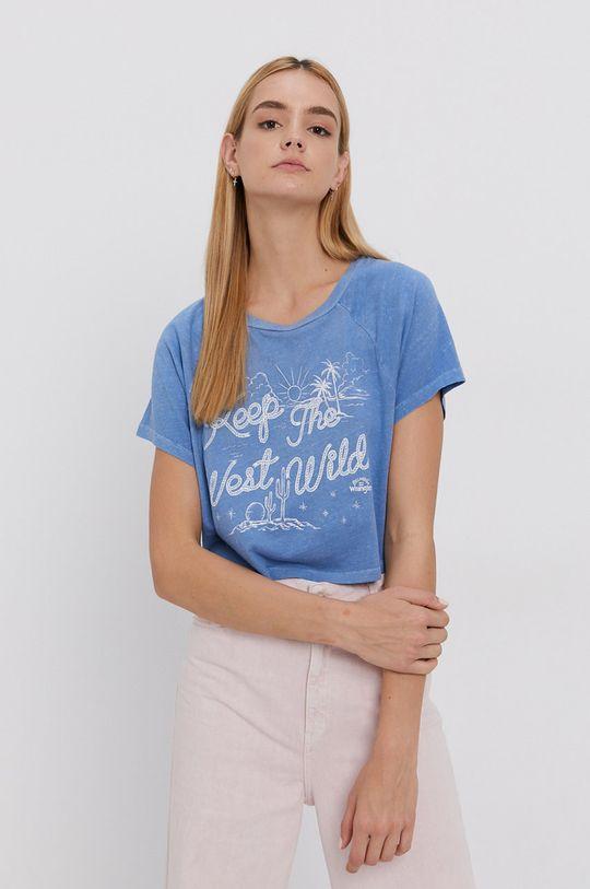 svetlomodrá Billabong - Bavlnené tričko x Wrangler