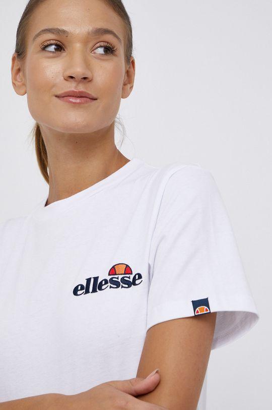 bílá Ellesse - Bavlněné tričko Dámský