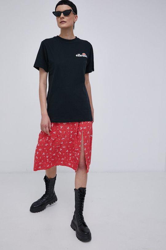 Ellesse - Bavlněné tričko černá