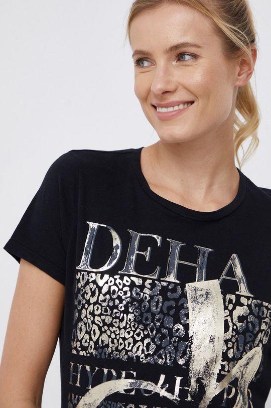 czarny Deha - T-shirt bawełniany Damski