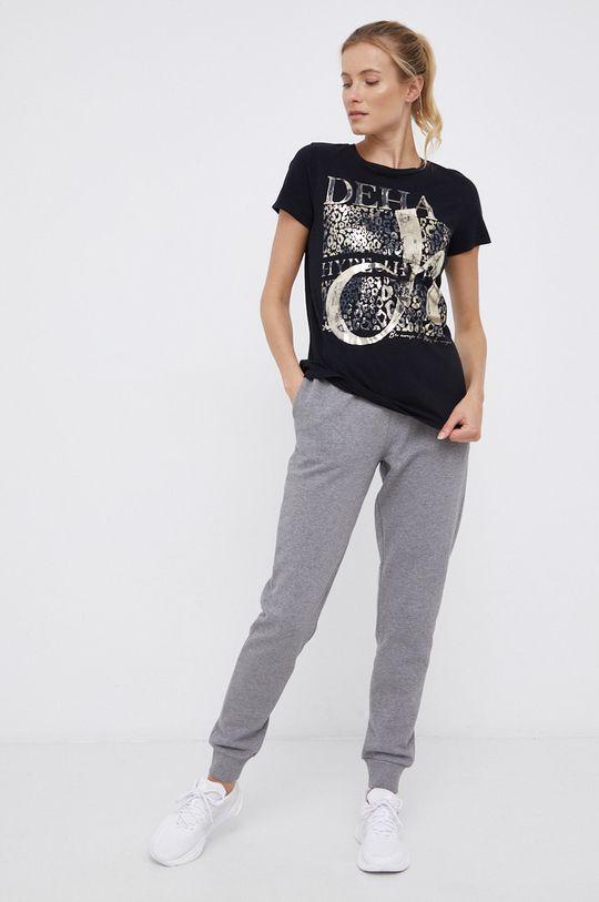 Deha - T-shirt bawełniany czarny