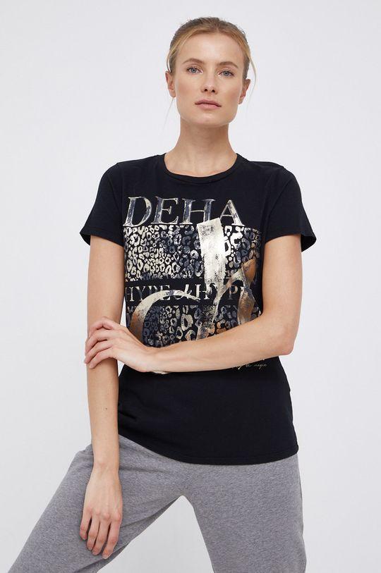 czarny Deha - T-shirt bawełniany