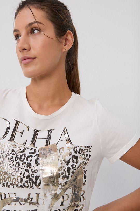 biały Deha - T-shirt bawełniany