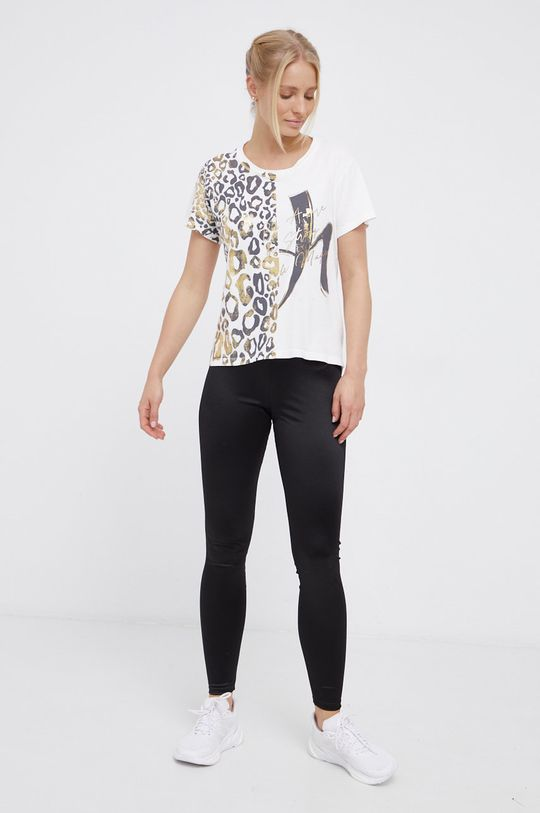 Deha - Bavlněné tričko bílá