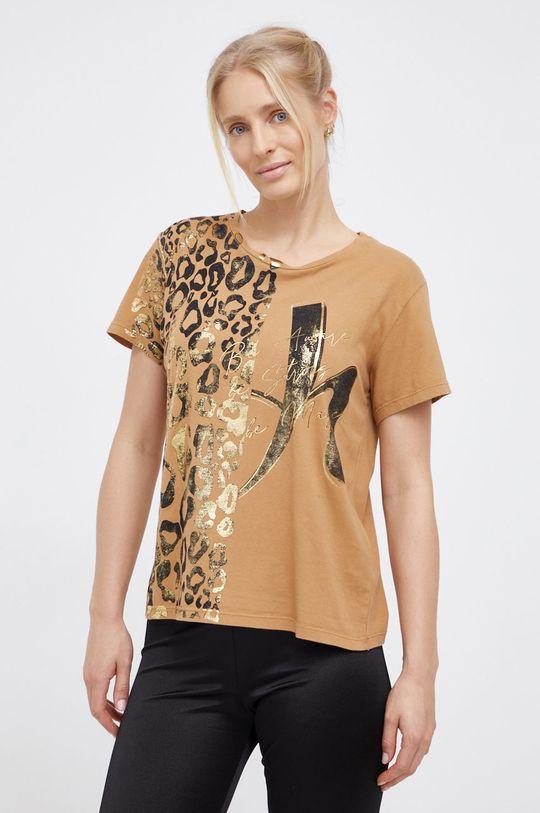 béžová Deha - Bavlněné tričko Dámský