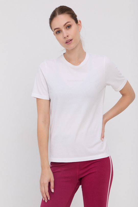 Peak Performance - T-shirt bawełniany biały