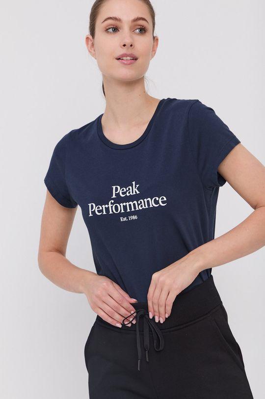 granatowy Peak Performance - T-shirt bawełniany
