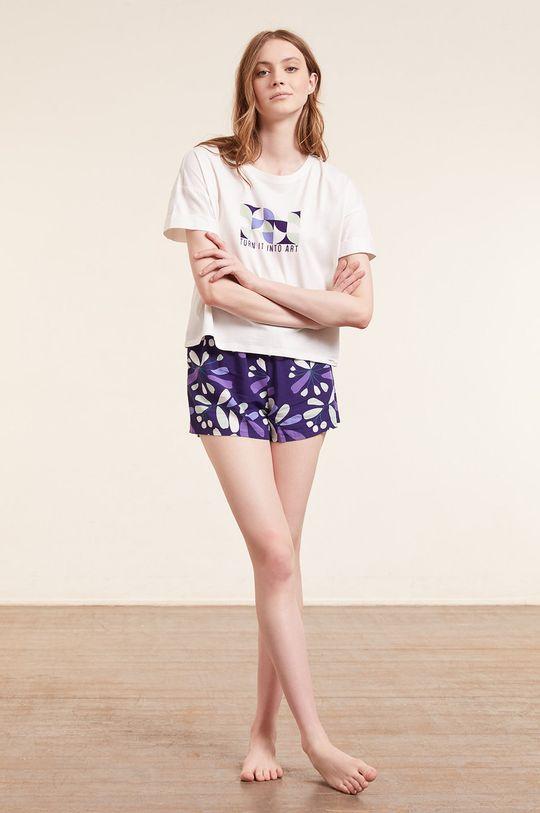 Etam - T-shirt piżamowy Eban beżowy