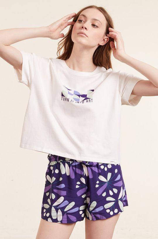 beżowy Etam - T-shirt piżamowy Eban