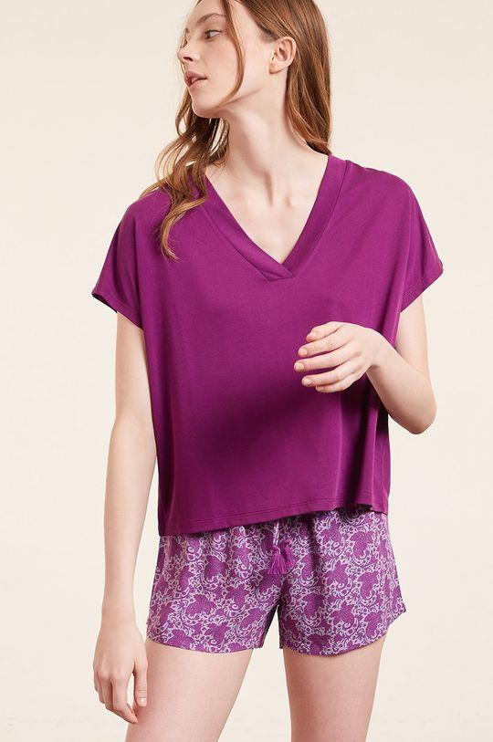 purpurowy Etam - T-shirt SLOAN Damski