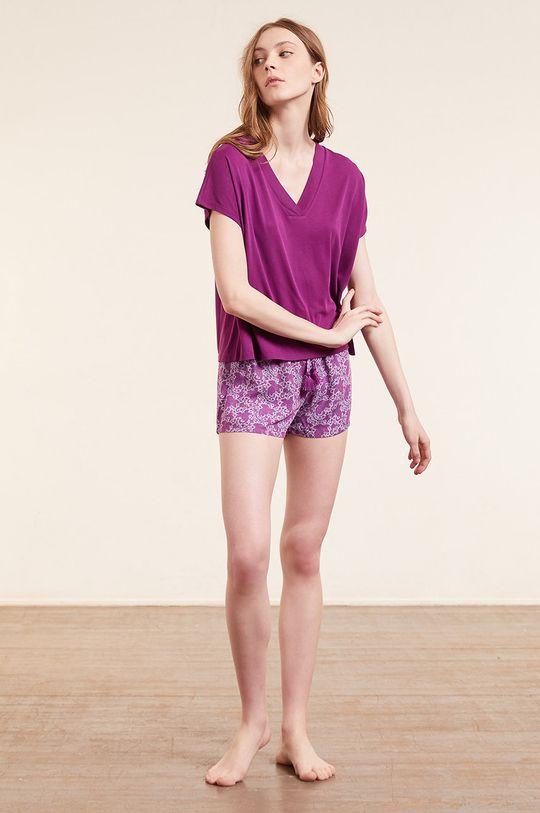 Etam - T-shirt SLOAN purpurowy