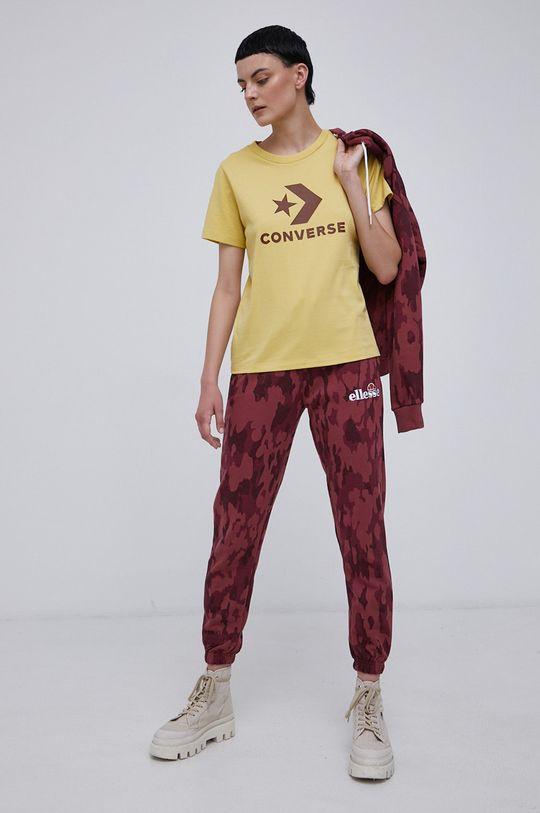 Converse - T-shirt bawełniany żółty