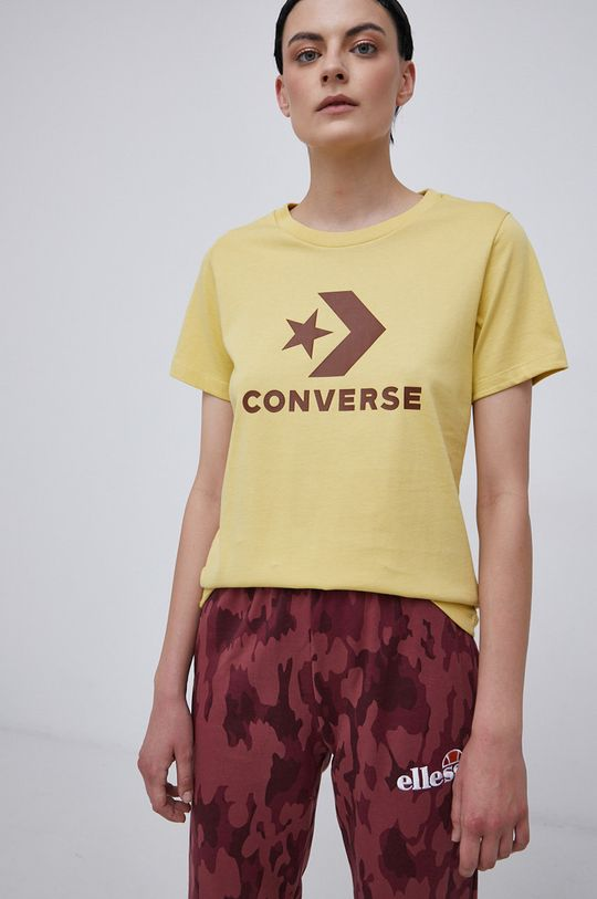żółty Converse - T-shirt bawełniany