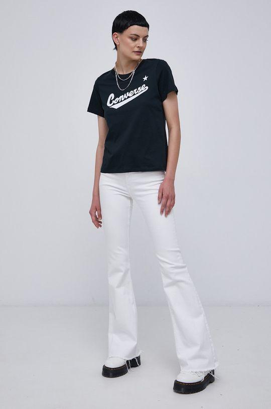 černá Converse - Bavlněné tričko Dámský