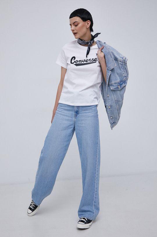 Converse - T-shirt bawełniany biały