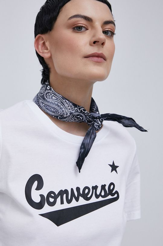 biały Converse - T-shirt bawełniany