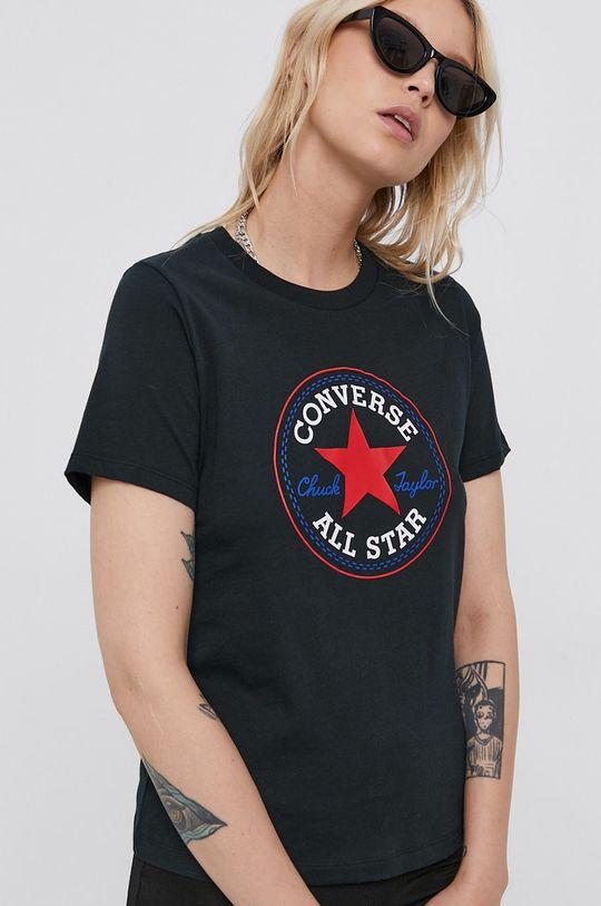 čierna Converse - Bavlnené tričko