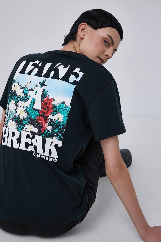 czarny Converse - T-shirt bawełniany Damski