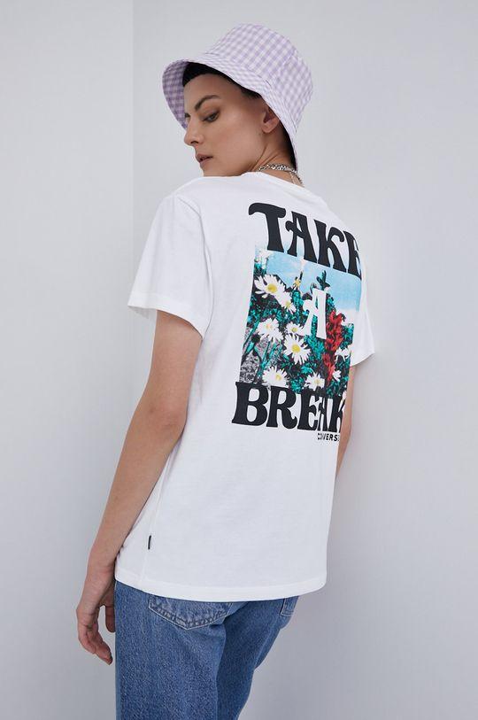 bílá Converse - Bavlněné tričko Dámský