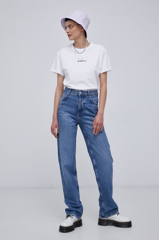 Converse - Bavlněné tričko bílá
