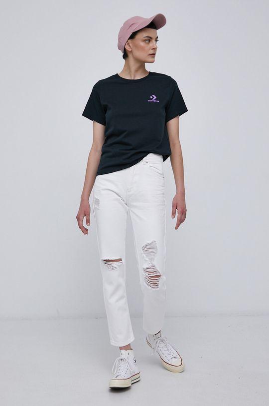 Converse - T-shirt bawełniany czarny