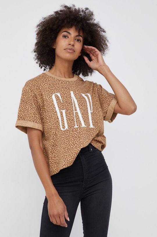 brązowy GAP - T-shirt bawełniany Damski