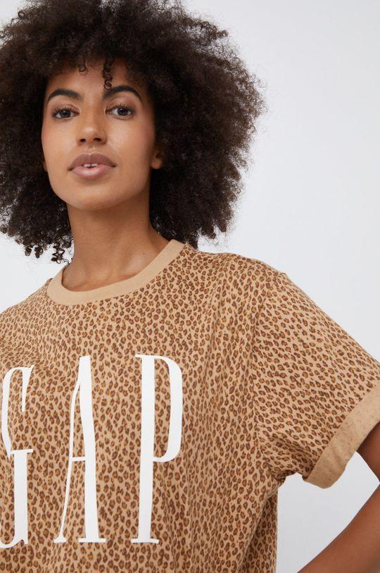 brązowy GAP - T-shirt bawełniany